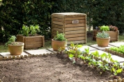 Composter and Herb Boxes